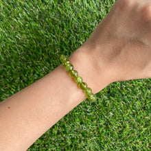 Load image into Gallery viewer, Peridot 7mm Bracelet