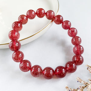 Strawberry Quartz 10mm Bracelet