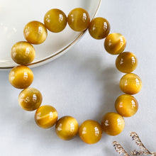 Load image into Gallery viewer, Yellow Tiger's Eye 14mm Bracelet