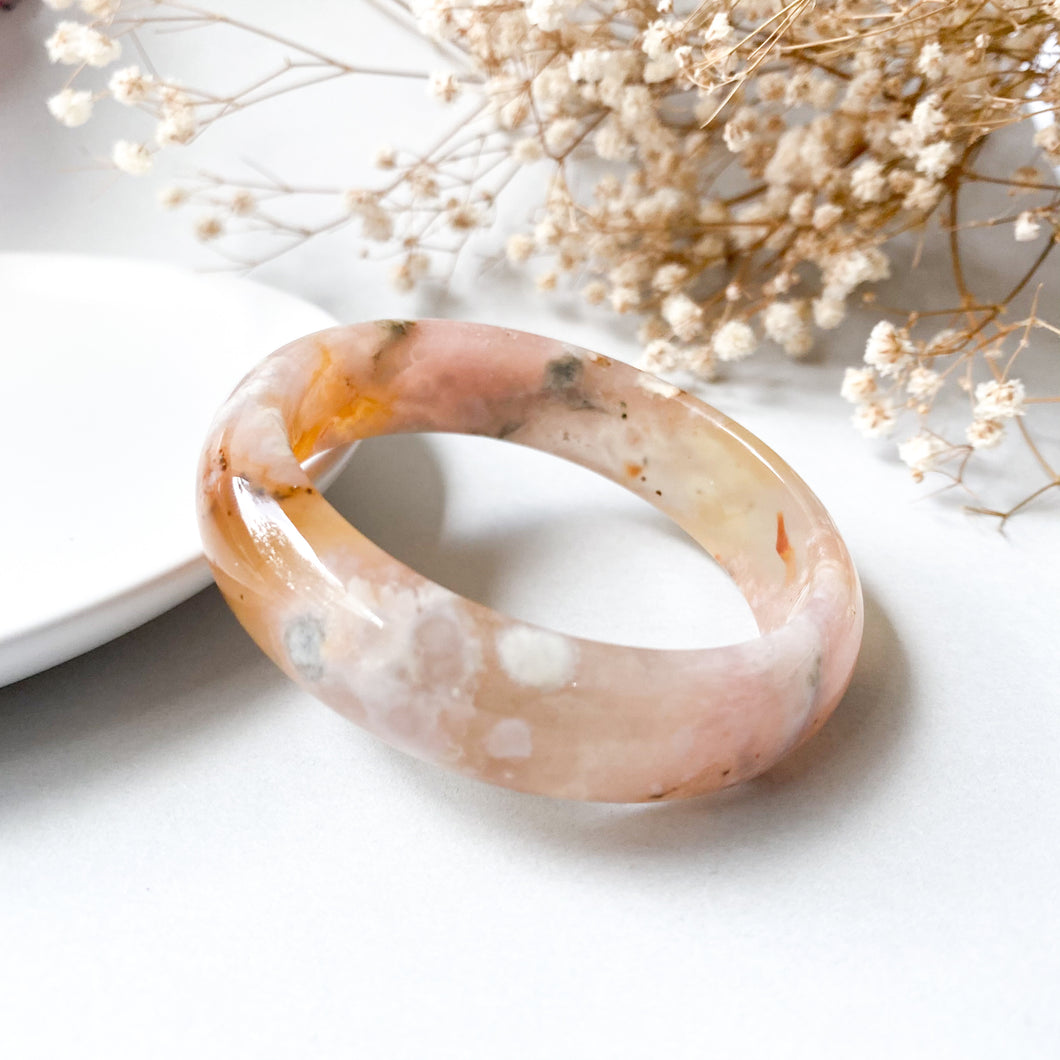Sakura Agate Bangle