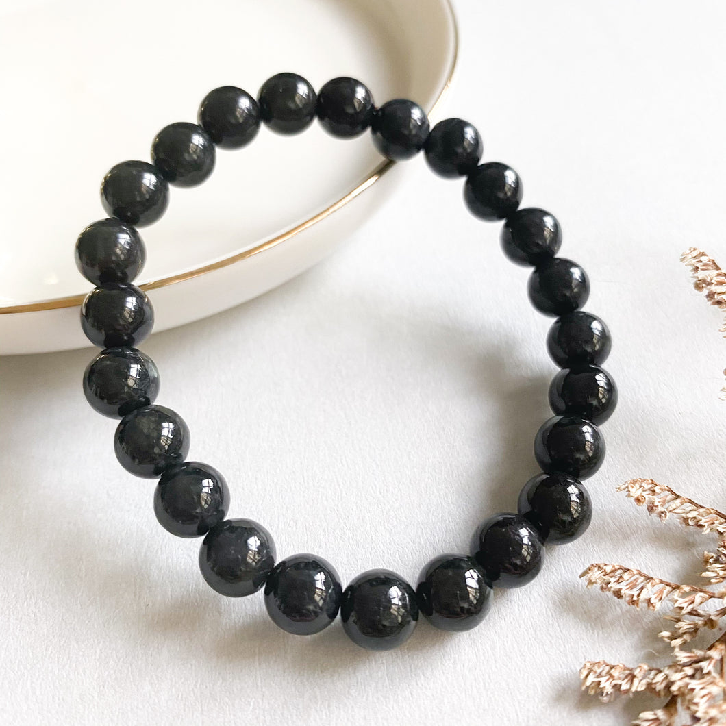 Grade A Black Jade 8mm Bracelet