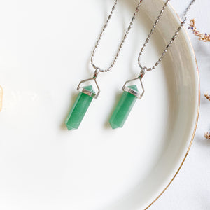 Aventurine Double Pointer Pendant