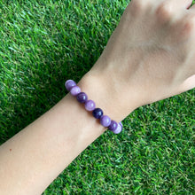 Load image into Gallery viewer, Purple Russian Fluorite 8mm Bracelet