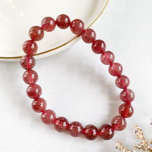 Strawberry Quartz 8mm Bracelet