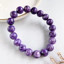 Load image into Gallery viewer, Charoite 10mm Bracelet