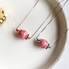 Load image into Gallery viewer, Rhodochrosite Solitaire Necklace