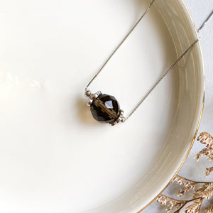 Smoky Quartz Solitaire Necklace
