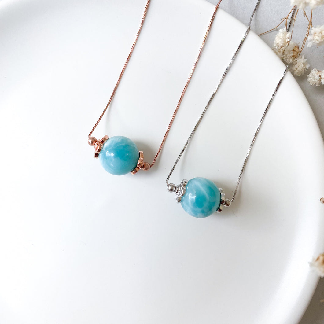 Larimar Solitaire Necklace