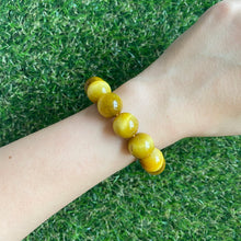 Load image into Gallery viewer, Gold Tiger's Eye 14mm Bracelet
