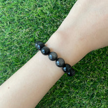 Load image into Gallery viewer, Silver Sheen Obsidian 10mm Bracelet