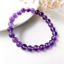 Load image into Gallery viewer, Amethyst 8mm Bracelet