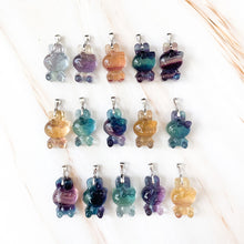 Load image into Gallery viewer, Fluorite Rabbit Kitty Pendant