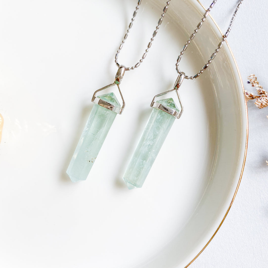 Aquamarine Double Pointer Pendant