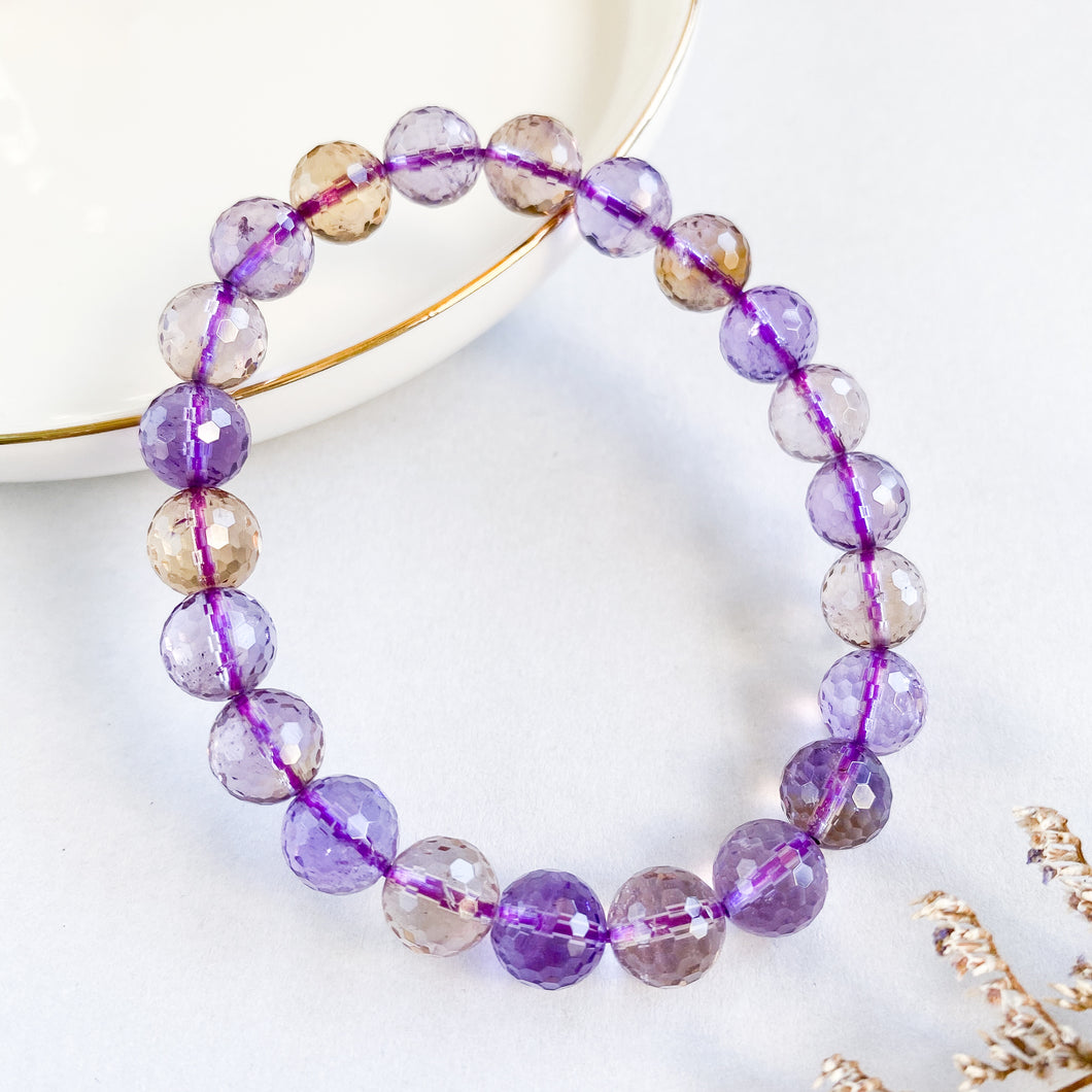 Ametrine 8mm Faceted Bracelet