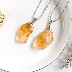 Citrine Raw Pendant