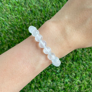 Selenite 8mm Bracelet