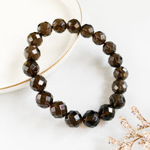 Load image into Gallery viewer, Smoky Quartz 10mm Faceted Bracelet
