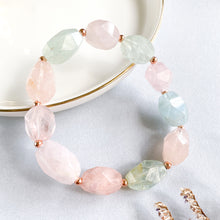 Load image into Gallery viewer, Morganite and Aquamarine Asymmetric Bracelet