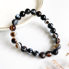 Load image into Gallery viewer, Bull's Eye Agate 8mm Bracelet