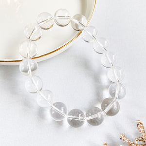 Clear Quartz 12mm Bracelet