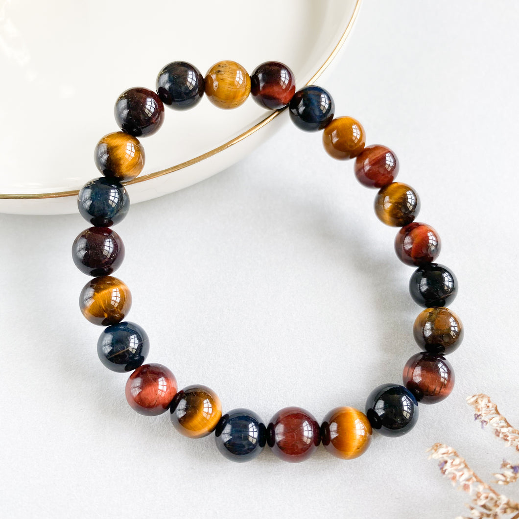 Tri-Colour Tiger's Eye 8mm Bracelet