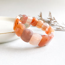 Load image into Gallery viewer, Pink Botswana Agate Rectanglar Bracelet