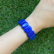 Load image into Gallery viewer, Lapis Lazuli Rectangular Bracelet