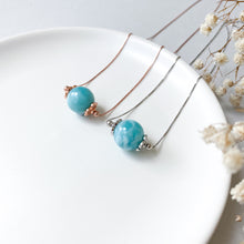 Load image into Gallery viewer, Larimar Solitaire Necklace