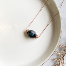 Load image into Gallery viewer, Blue Tiger's Eye Geometric Necklace