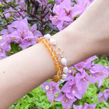 Load image into Gallery viewer, Citrine 6mm Bracelet