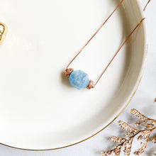 Load image into Gallery viewer, Aquamarine Geometric Necklace