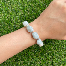 Load image into Gallery viewer, Aquamarine Asymmetric Bracelet
