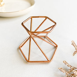 Rose Gold Sphere Stand