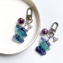 Load image into Gallery viewer, Fluorite Wealth Cat Bag Charm
