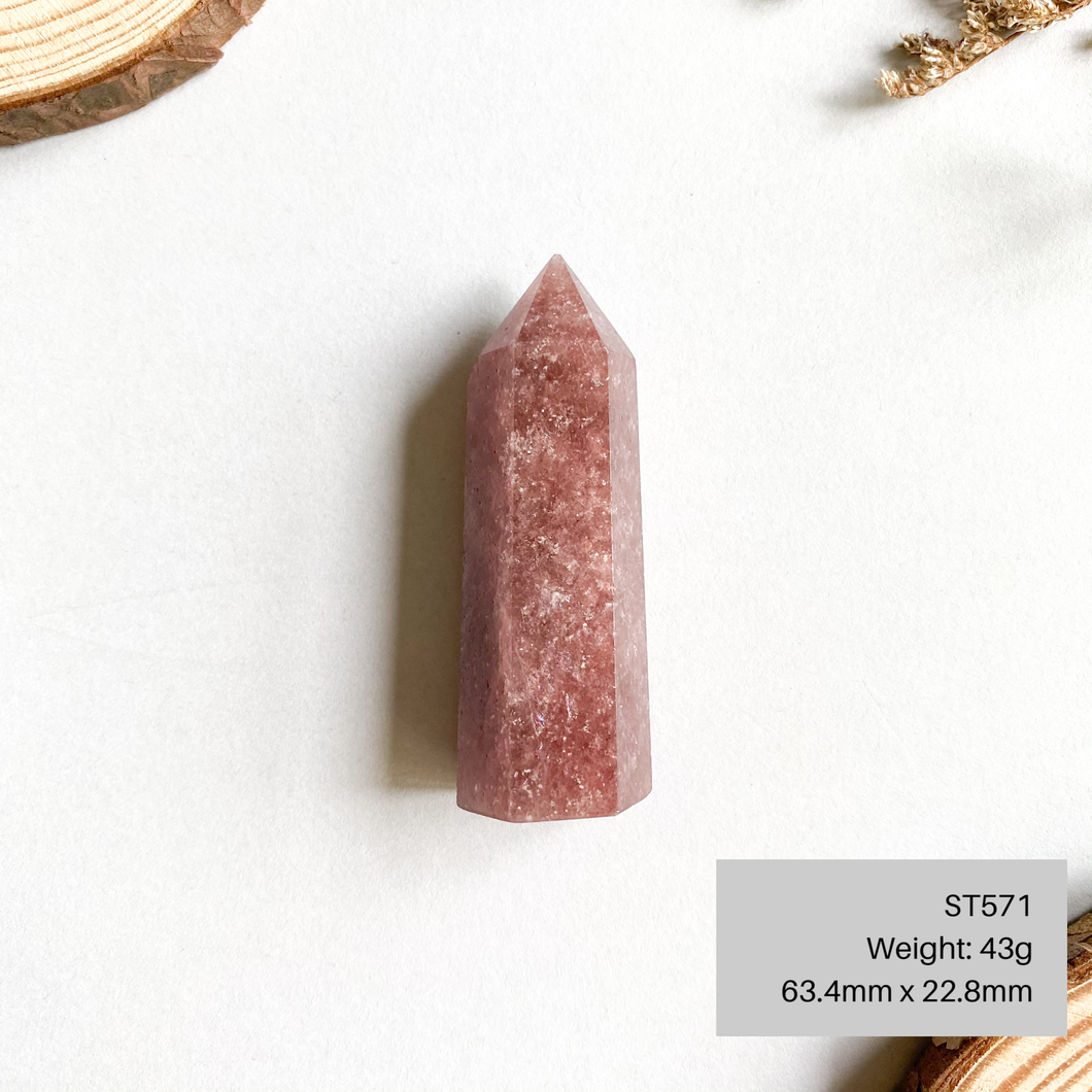 Strawberry Quartz Pointer