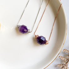 Load image into Gallery viewer, Amethyst Geometric Necklace