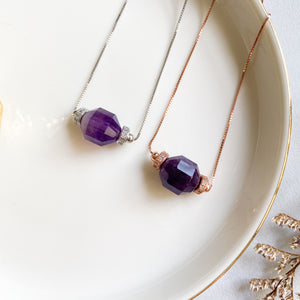 Amethyst Geometric Necklace