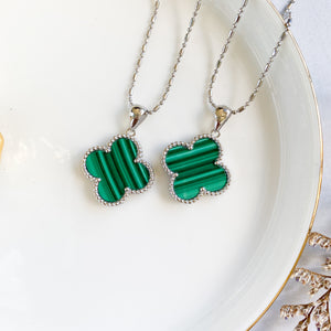 Malachite Four-Leaf Clover Pendant