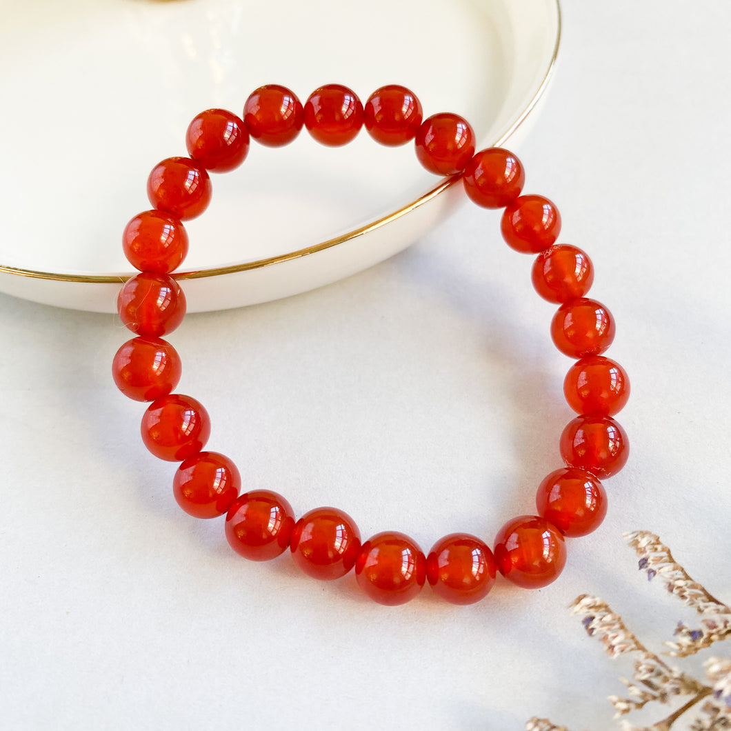 Red Agate 8mm Bracelet