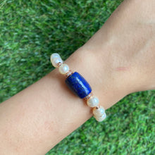 Load image into Gallery viewer, Bedazzled Lapis Lazuli Bracelet