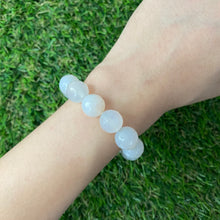 Load image into Gallery viewer, White Agate 12mm Faceted Bracelet