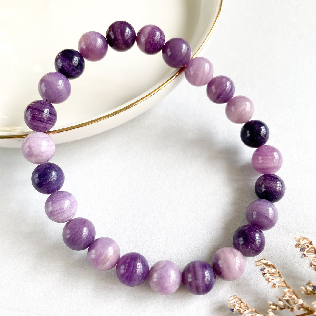 Purple Russian Fluorite 8mm Bracelet
