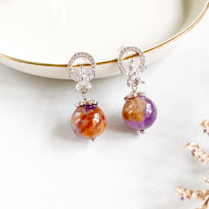 Amethyst Phantom Flora Earrings
