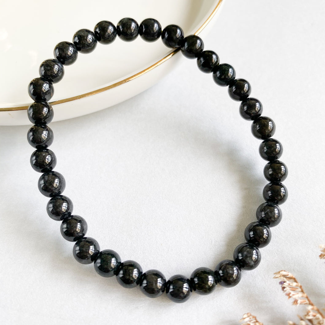 Grade A Black Jade 6mm Bracelet