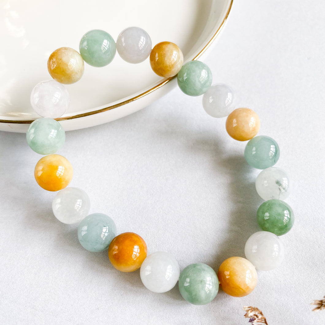 Grade A Multi-Colour Jade 10mm Bracelet