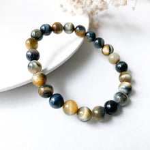 Load image into Gallery viewer, Duo Tone Tiger's Eye 8mm Bracelet