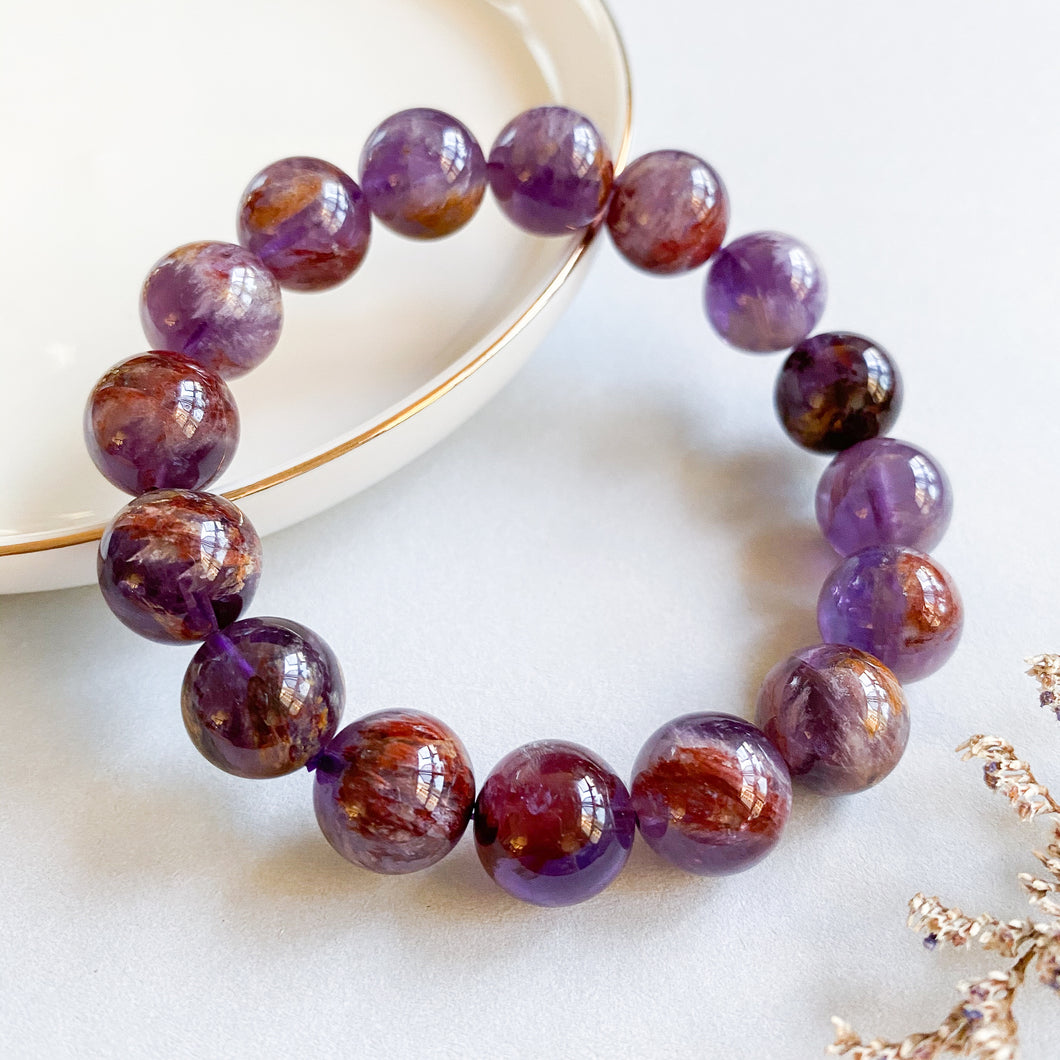 Amethyst Phantom 12mm Bracelet