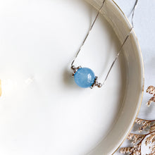 Load image into Gallery viewer, Aquamarine Solitaire Necklace