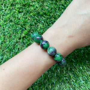 [Special Price!] Ruby Zoisite 12mm Bracelet