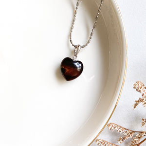Red Tiger's Eye Heart Pendant